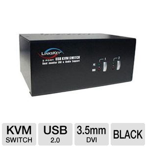 Linkskey LDV-DM202AUSK Dual Monitor KVM Switch