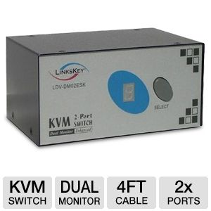 Linkskey LDV-DM02ESK 2-Port DVI/DVI KVM Switch