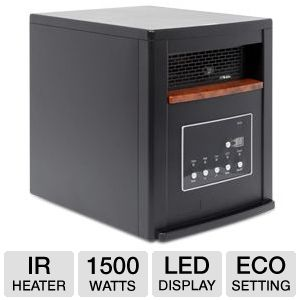 LifeSmart 1500 Watt Quartz  IR Heater Black