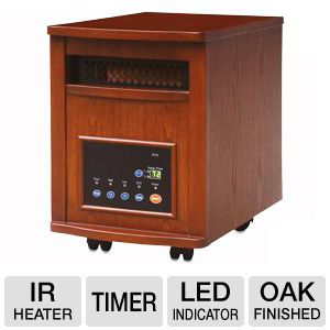Lifesmart 1500 Watt Infrared Quartz Heater Oak 