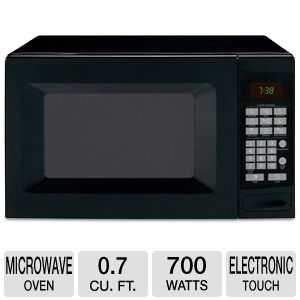 Sunbeam 0.7 cu ft 700 Watts Black Microwave Oven
