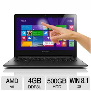 "Lenovo S415 14"" Quad Core 10-Point Touch Notebook"