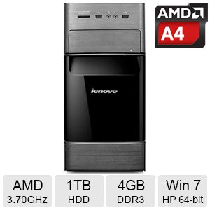 Lenovo H535 AMD Dual-Core 3.70GHz Desktop PC