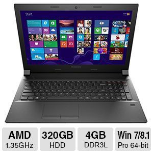 "Lenovo B50-45 4GB DDR3L, 320GB HDD, 15.6"" Laptop"