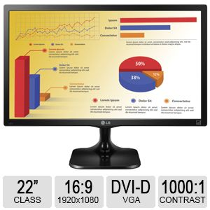 "LG 22"" Class Full HD LED Monitor - 22MC37D-B"