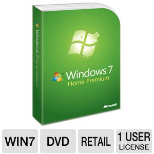 Microsoft Windows 7 Home Premium DVD English