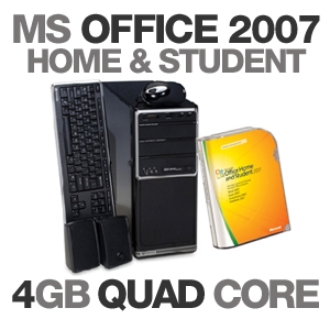 Gateway DX4710-07 Desktop PC MS Office Bundle
