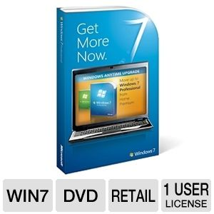 Microsoft Windows 7 Home Prem. to Pro UPGRADE