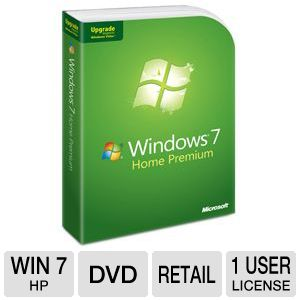 Microsoft Windows 7 Home Premium UPGRADE DVD