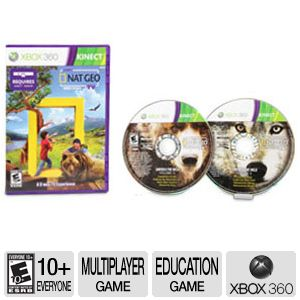 Microsoft Kinect Nat Geo TV DVD Xbox 360 Game