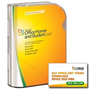 Office Home and Student 2007 w/free 2010 Download