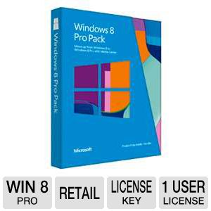 Microsoft Windows 8 to Win 8 Pro - Upgrade Version