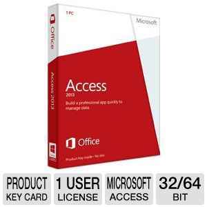Microsoft Access 2013 Product Key Card