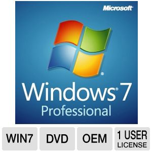 Microsoft Windows 7 Professional 64bit OSS Bundle