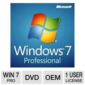 Microsoft Windows 7 Professional SP 1 OS DVD