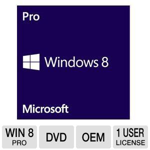 Microsoft Windows 8 Pro Operating System Software
