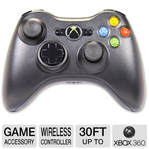 Microsoft Xbox 360 Wireless Black Controller