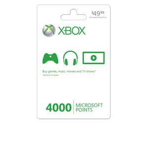 Microsoft Xbox LIVE Point Card - 4000 Points