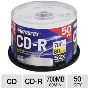 Memorex 50pk 52x CDR