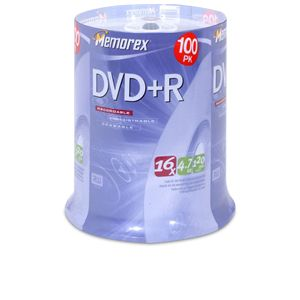 Memorex 05621 100 Pack 16X DVD+R Spindle