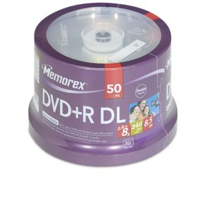 Memorex 05732 50 Pack 8X DVD+R DL Spindle