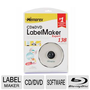 Memorex 32023947 CD/DVD/Blu-Ray Label Maker Expert