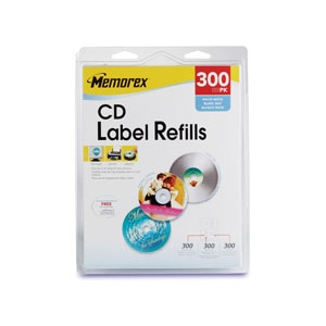 Memorex 32020403 300 Pack CD Label Refills