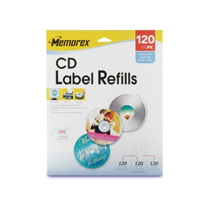 Memorex 32020424 120 Pack CD Label Refills