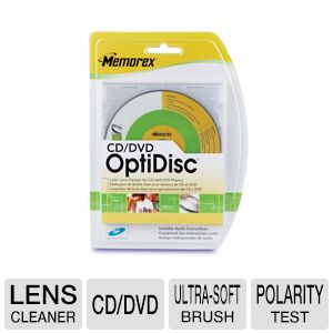 Memorex 2028003 CD/DVD OptiDisc Lens Cleaner