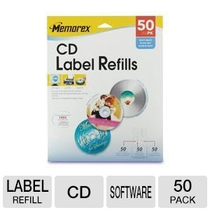 Memorex 32020412 50 Pack CD Label Refills