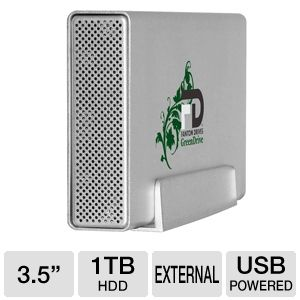 Fantom Drive GreenDrive3 1TB External USB 3.0 HDD