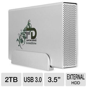 Fantom GreenDrive3 2TB USB 3 Aluminum External HDD