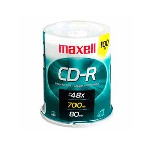 Maxell 648200 100 Pack CDR Spindle