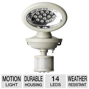 Maxsa 40217 Solar-Powered Security Light