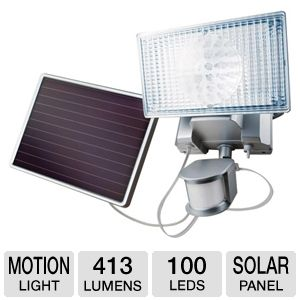 Maxsa 44449 Solar-Powered Security Light