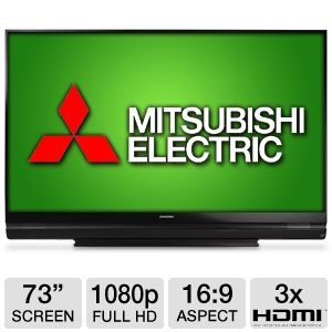 Mitsubishi WD73740 73&quot; 1080p 3D DLP HDTV
