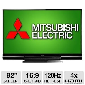 Mitsubishi WD-92840 92&quot; Class 3D DLP HDTV REFURB