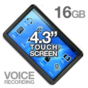 Mach Speed 16GB 4.3&quot; Touch Screen MP4/MP3 Player