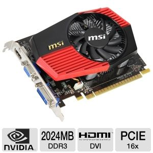 MSI GeForce GT 430 OverClocked 2GB DDR3 PCIe