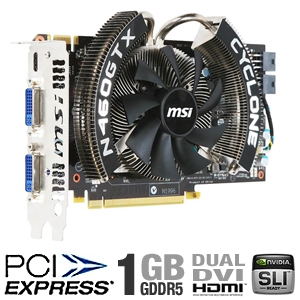 MSI Cyclone GeForce GTX 460 (Fermi) 1GB GDDR5 SLI