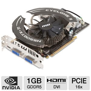 MSI GeForce Cyclone OverClocked GTX 550 Ti 1GB 