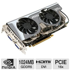 MSI GeForce Twin Frozr II/OC GTX 560 Ti 1GB GDDR5