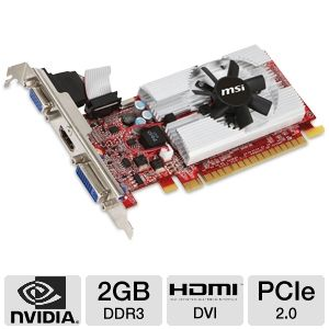 MSI GeForce GT 610 2GB DDR3 Video Card
