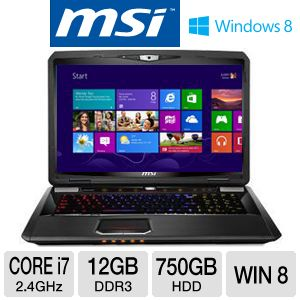 "MSI 17.3"" Core i7 750GB HDD Laptop"