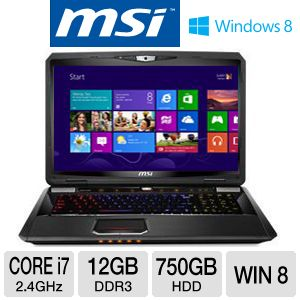 "MSI GT70 17.3"" Core i7 750GB HDD Laptop"