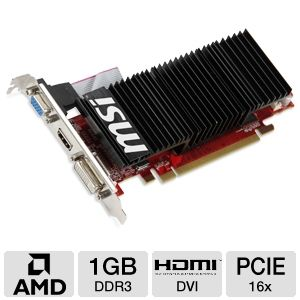 MSI Radeon HD 4350 1GB DDR3 PCIe Low Profile