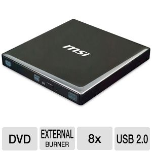 MSI External Slim DVD Burner