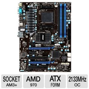 MSI 970A-G46 AMD 9 Series AM3+ Motherboard
