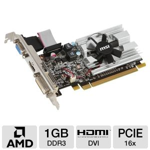 MSI Radeon HD 6450 1GB DDR3 PCIe Low Profile