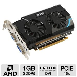 MSI Radeon HD 6670 1GB GDDR5 PCIe 2.1 Video Card